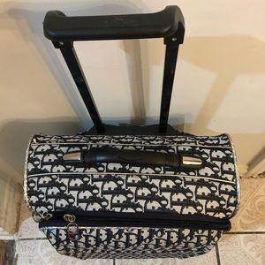 Dior vintage monogram small luggage